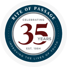 Rite of Passage 35 Year Logo