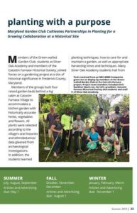 Cover for the Planting with a Purpose article
