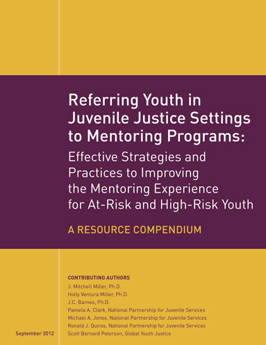 Journal Article cover for Referring Youth in Juvenile Settings to Mentoring Programs